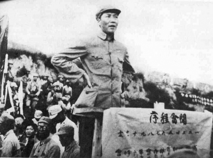 Mao Zedong taler på Yenan litteraturforum