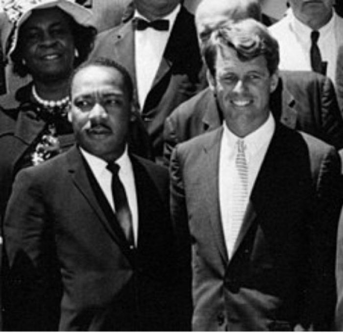 Martin Luther King jr. og Robert F. Kennedy